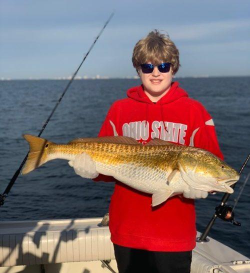 Bull Redfish caught November 2018 with Getaway Charters